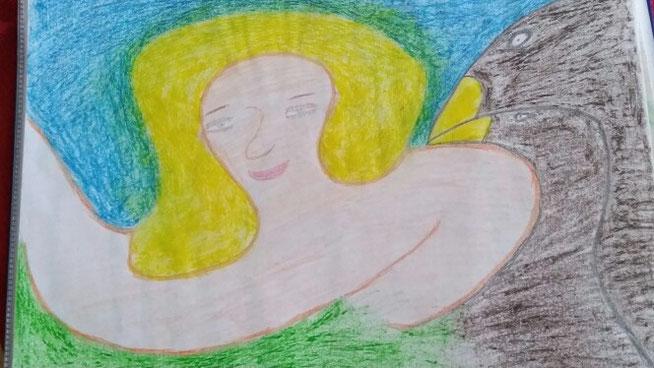 Zwei Raben und das Mädchen mit dem goldenen Haar