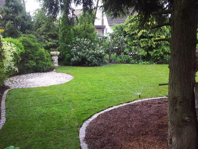 Beregnungsanlage Bewässerungsanlage Gartengestaltung Rübner Schwabach