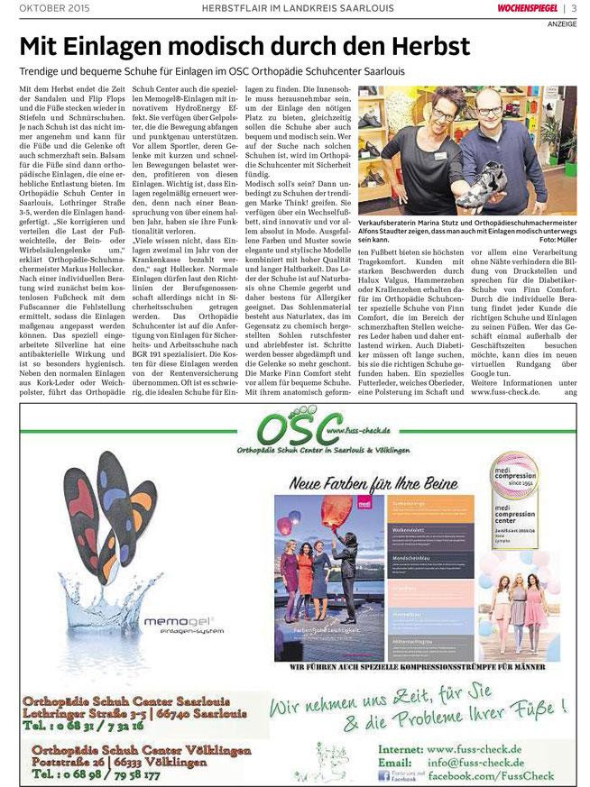 Wochenspiegel Oktober 2015