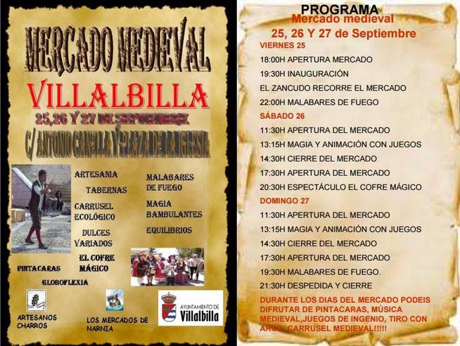 Programa del Mercado Medieval de Villalbilla