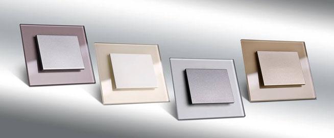 Nouvelle collection d'interrupteur DECENTE: Indigo - crème - gris métalisé - moca