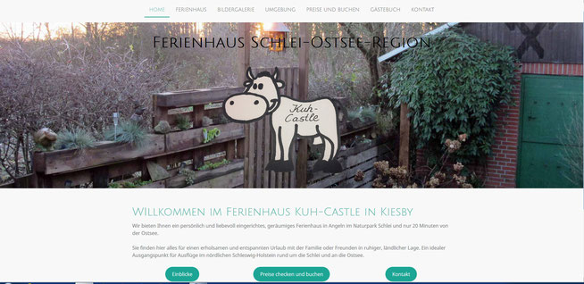 Ferienhaus Kuh-Castle in Kiesby im Naturpark Schlei