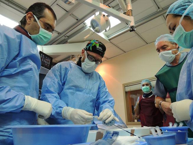 Dr. Feteih with Dr. Nayal during UFE procedure using Magellan in Jeddah, Saudi Arabia