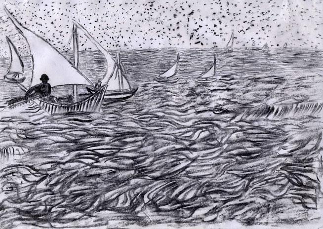 Zeichnung: Anne Borchardt nach Vincent van Gogh