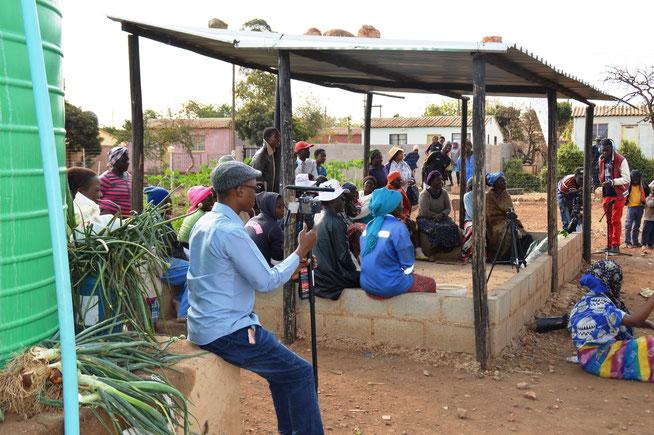 """Climate Change"" - Theaterstück für die Landbevölkerung. Bulawayo, Simbabwe - (c) Petra Keller-Langen"