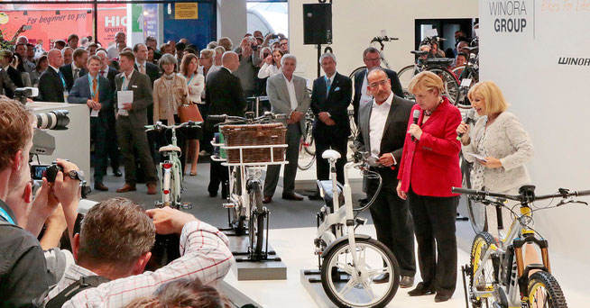Bundeskanzlerin Angela Merkel auf der Eurobike 2013 ©Messe Friedrichshafen Eurobike