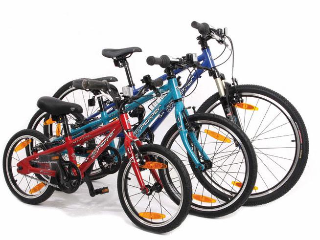 Die Kinderradflotte von Pepper Bikes überzeugt nicht nur mit peppigen Farben