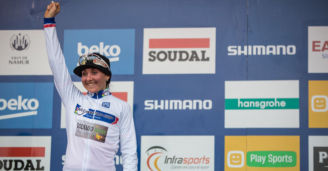 Eval Lechner ist wieder Weltcup-Führende ©Sabine Jacob