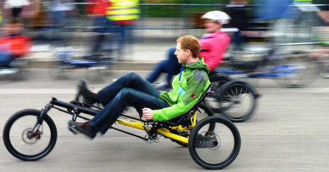 Probefahren: Auf der Internationalen Spezialradmesse in Germersheim kann man nicht nur staunen, sondern auf den Probeparcours auch gleich testen © Spezialradmesse