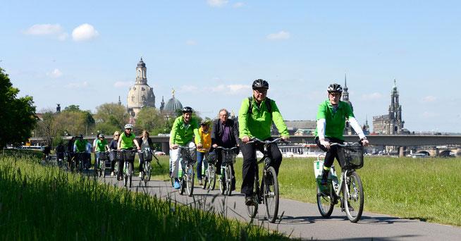 """Auftaktveranstaltung """"Mit dem Rad zur Arbeit"""" in Dresden © AOK"""