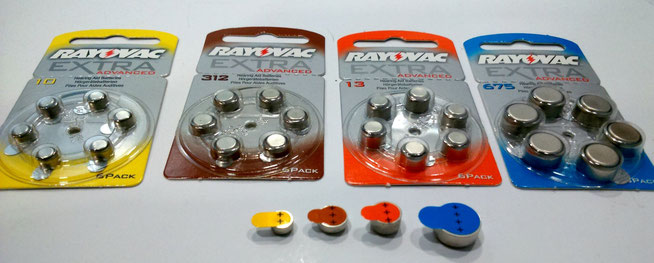 Packs de 6 pilas Rayovac en sus distintos tamaños.