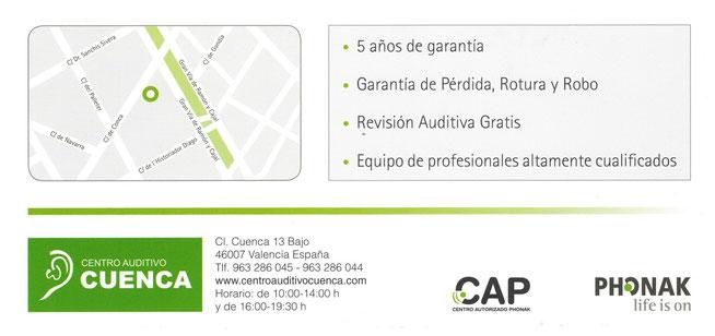 Audífonos Phonak en Valencia. Centro Auditivo Cuenca.