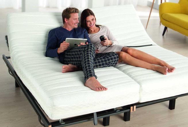 Komfortrahmen, komfort auf Knopfdruck, motorrahmen, entspannen im bett