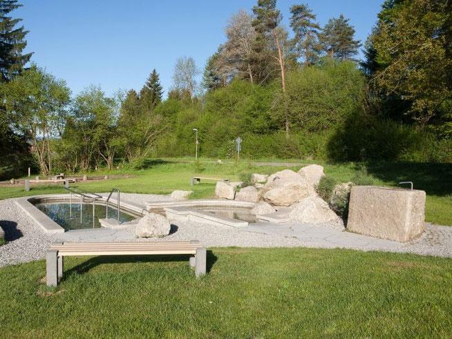 Kneippanlage beim Feriendorf  Lechbruck am See Bild von Haus 118
