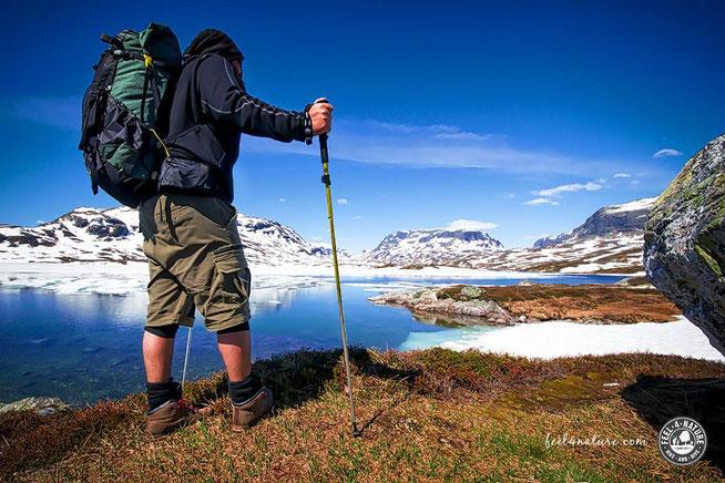 Norwegen Schnee Sommer Wandern