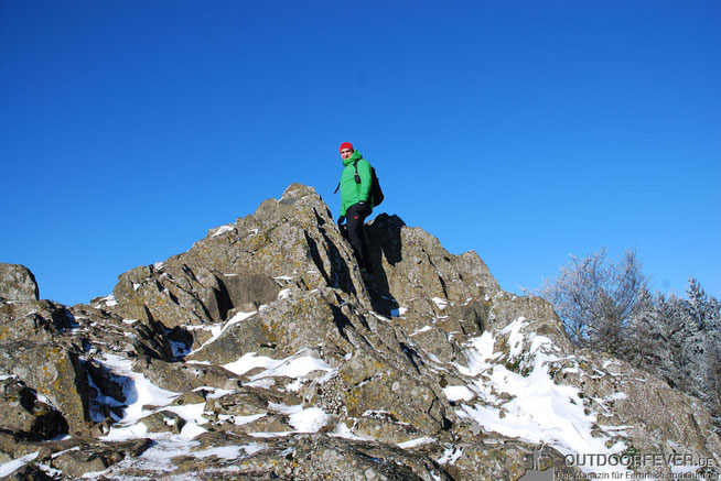 Wandern Schnee Winter Sonne blauer Himmel
