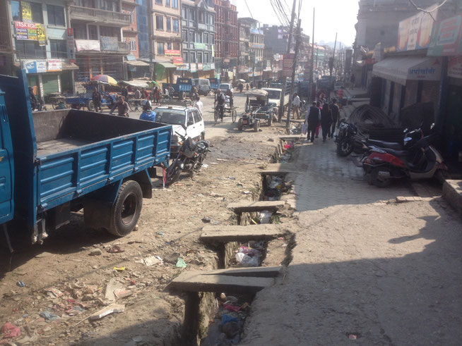Stadtrand der Hauptstadt Kathmandu