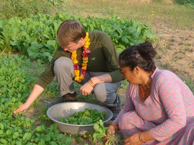Essensvorbereitungen bei den Tharu in Chitwan