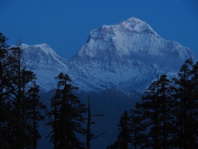 Annapurna Berg bei Nacht