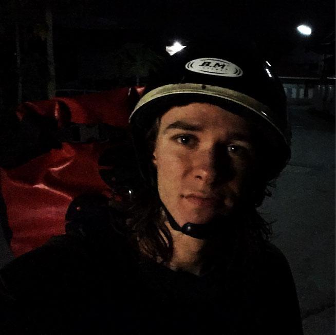 Früher Aufbruch in Chiang Mai mit dem Roller