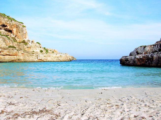 Mallorca Cap de ses Salines Sand Strand versteckte Bucht