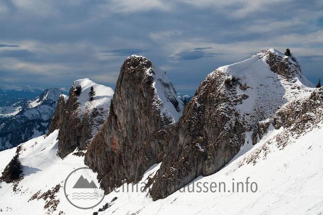 Berge Gipfel Schnee