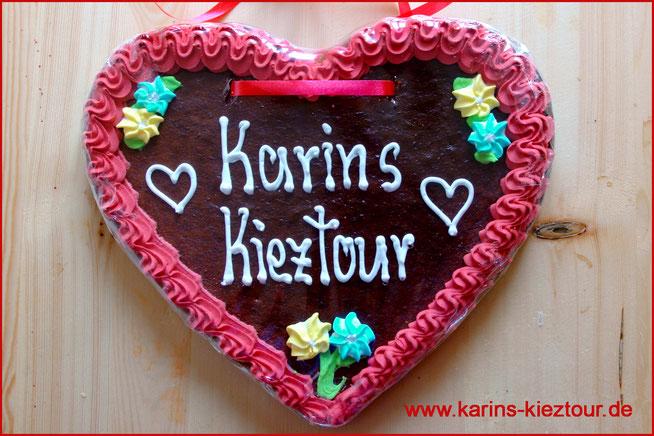 Herz vom Hamburger Dom mit Schrift Karins Kieztour.