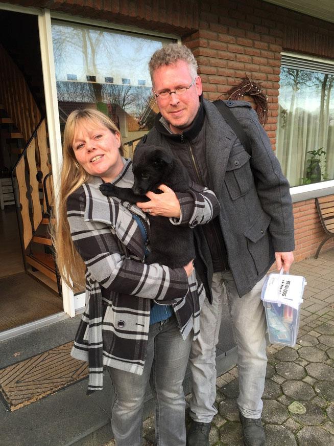 Jacqueline Rijswijk met partner Jeroen en Sue
