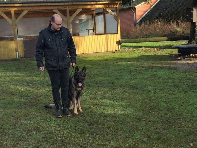 André van der Veen met Igor vom Haus Ehrlich