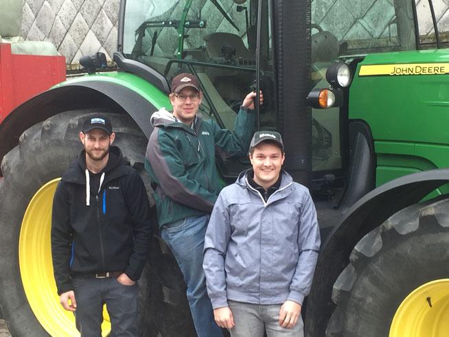 Fabian Bangerter, Reto Moser & Christian Walther, die Geschäftsführer der Agrarservice Grossaffoltern GmbH