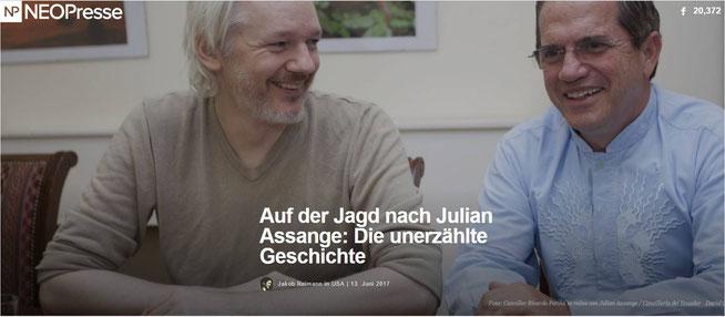Foto: Canciller Ricardo Patiño se reúne con Julian Assange / Cancillería del Ecuador - David G Silvers / flickr.com / CC BY-SA 2.0