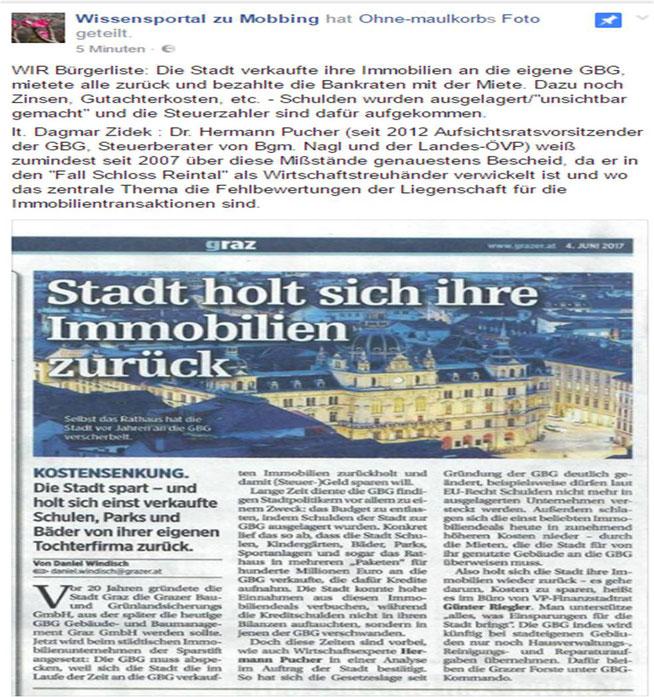Zeitungsartikel aus derGrazer 04.06.2017