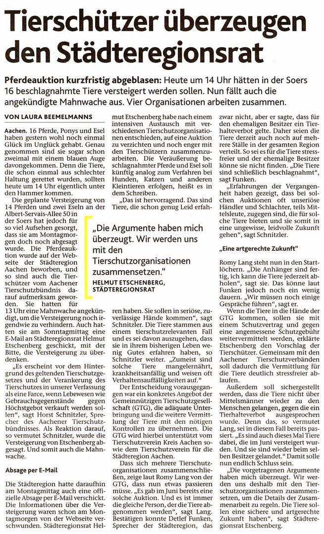 Aachener Nachrichten vom 13.12.2016