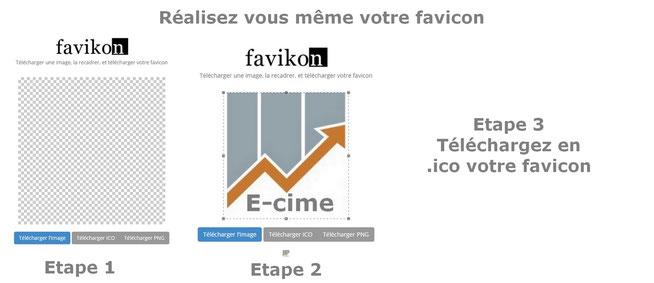 Les étapes pour réaliser son favicon soi même expliquées par E-cime