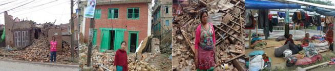 帽子工場の従業員の家屋の多くが倒壊しました