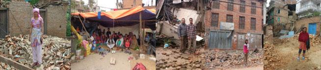 ネパール 帽子工場の従業員の多くの自宅が倒壊しました