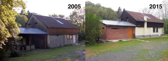 Auberge St. Bernhard und Auberge teddy - Vor und nach dem Ausbau bzw. der Erweiterung und Renovierung.