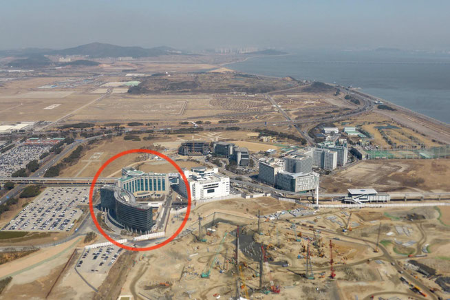 Incheon Grand Hyatt from the air