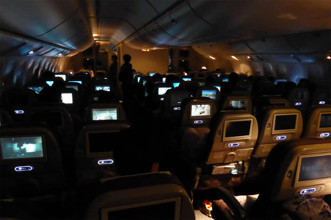 Korean Air artificial 'night time' in the cabin