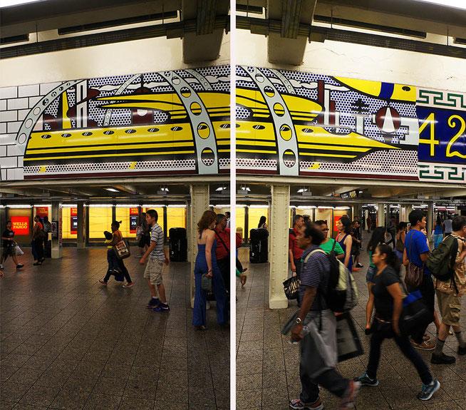 Mathieu Guillochon photographe,USA, New York City, Manhattan, métro, Time square, s hall des correspondances, street photo, sur les lignes, couleurs, personnages