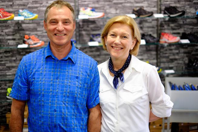 Die Inhaber Isolde Finkeldey und Werner Löffler