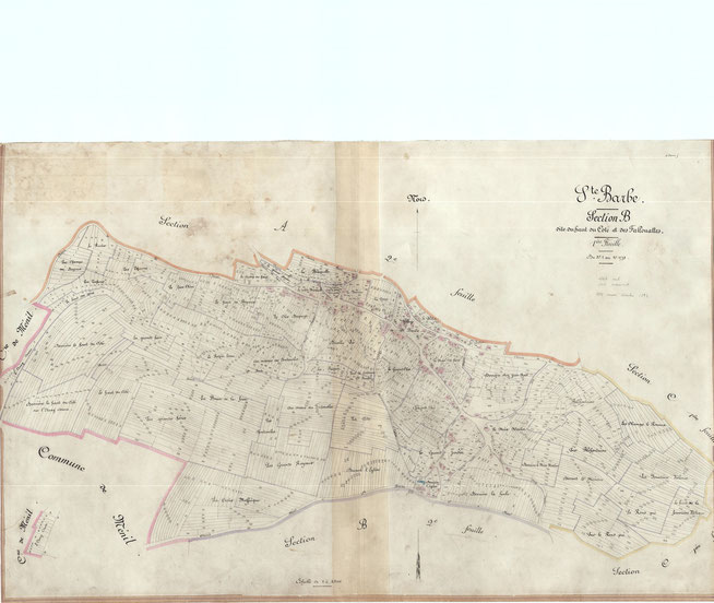 Plan cadastral Sainte-Barbe 1825
