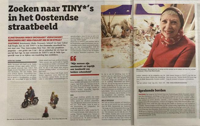 Mieke Drossaert in de Krant van West-Vlaanderen