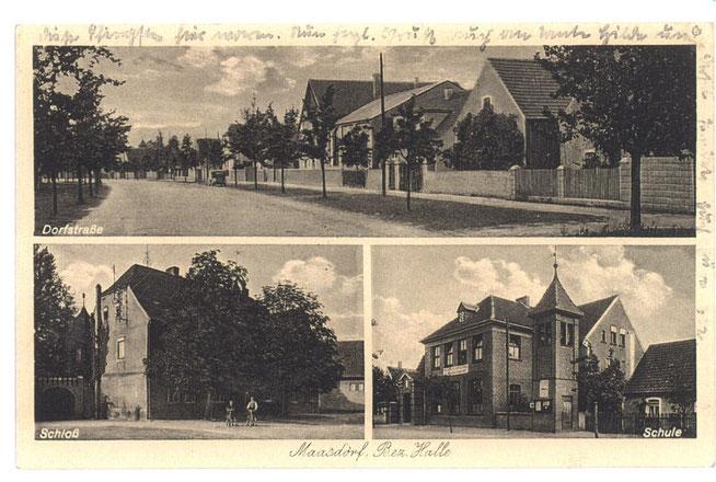 Historische Postkarte von Maasdorf