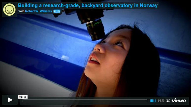 Video om hvordan observatoriet ble bygget.
