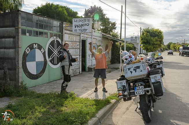 Argentinien - Südamerika - Reise - Motorrad - Honda Transalp - Ankunft bei Pollo im La Posta del Viajero en Moto in Azul