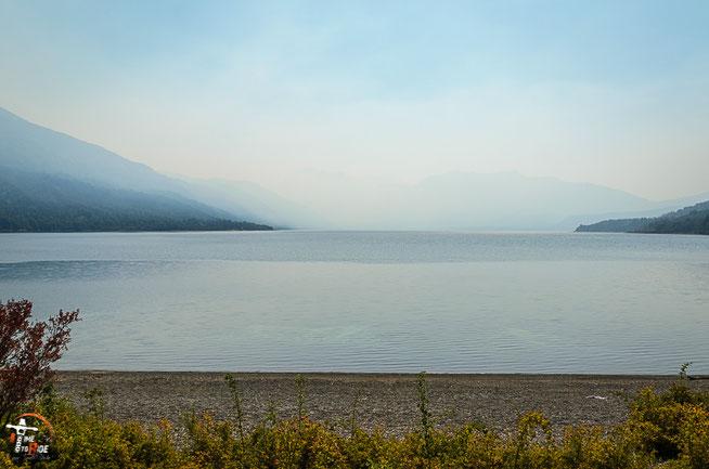 Argentinien - Südamerika - Reise - Motorrad - Honda Transalp - Parque Nacional los Alerces - Camping am Lago Futalaufquen