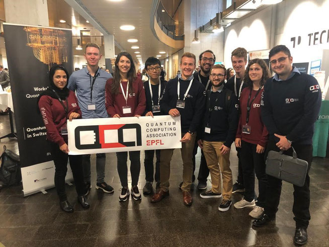 The EPFL QCA members at the Quantum Industry Day