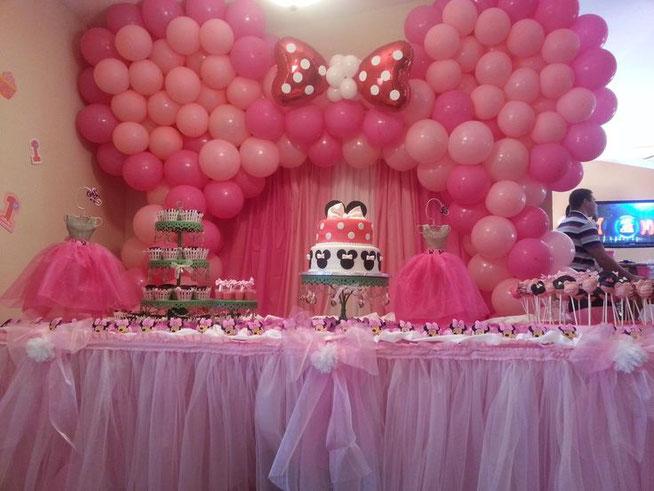Decoración Fiesta Minnie Mouse Decoracion Para Fiestas