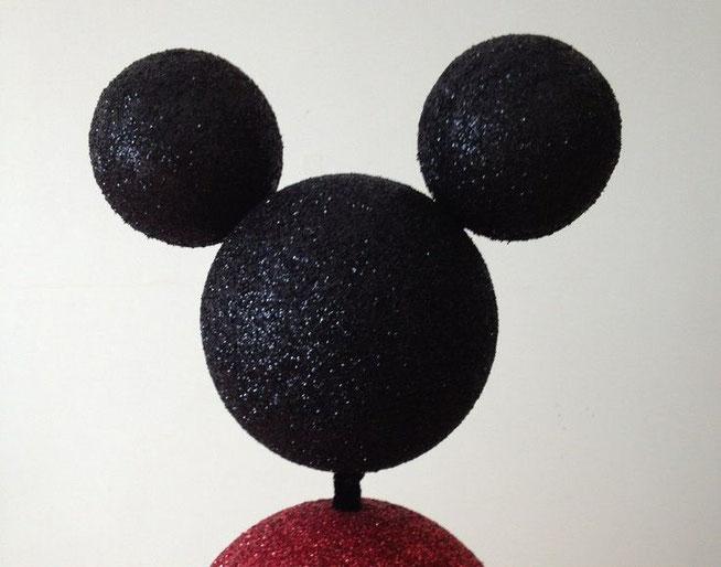 manualidades cabeza mickey mouse de unicel